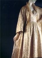 1953 satin and silk dress